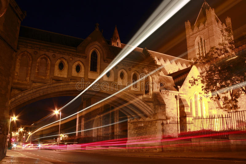 Dublin Nightshot royalty free stock image