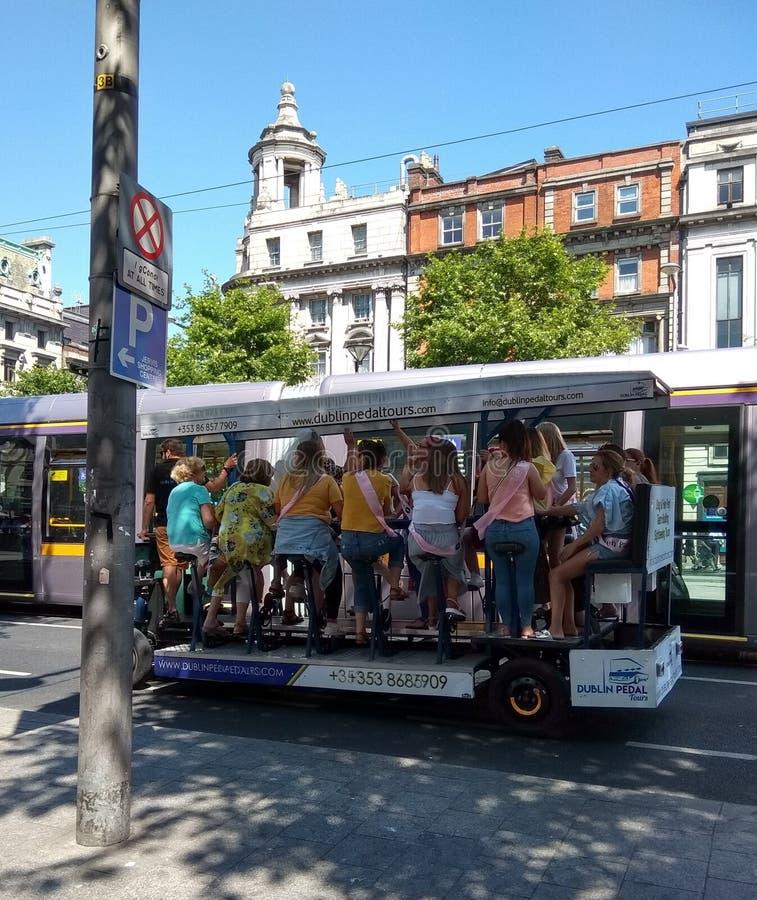 Dublin Pedal Tours immagini stock