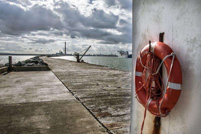 The Dublin port royalty free stock photography