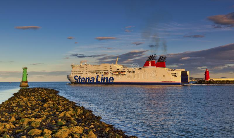 Dublin Port Stena Line Dublin to Holyhead Ferry Routes royalty free stock photography