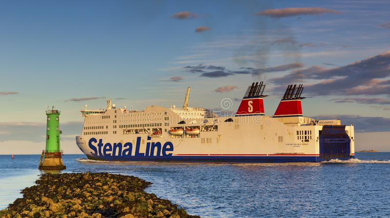 Dublin Port Stena Line Dublin to Holyhead Ferry Routes stock photo