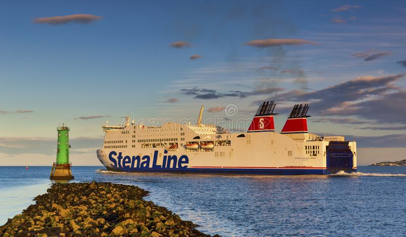 Dublin Port Stena Line Dublin to Holyhead Ferry Routes stock photos