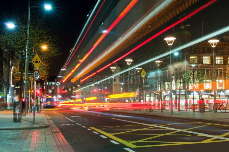 Dublin przy noc zdjęcie stock