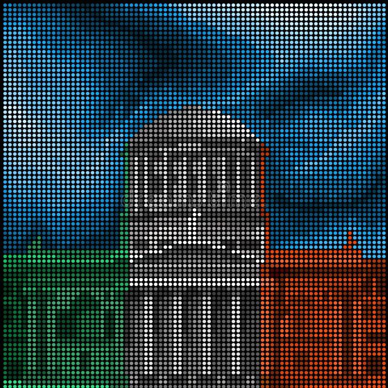 Dublin - quatro cortes - ilustração do vetor