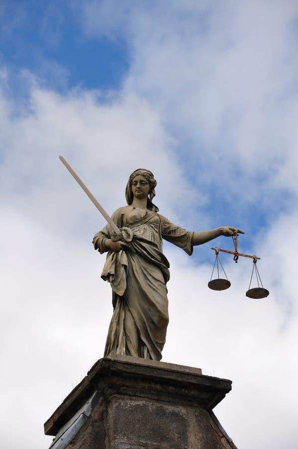 Dublin-Schloss-Gerechtigkeit stockfotos