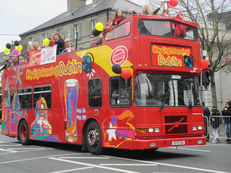 Dublin Sightseeing Bus stock photography