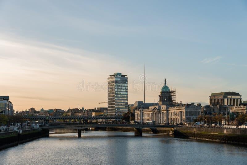 Dublin skyline stock image