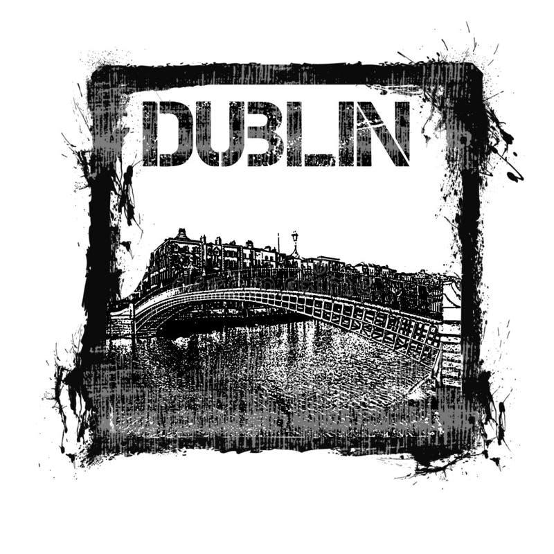 Dublin Stamp royalty-vrije stock fotografie