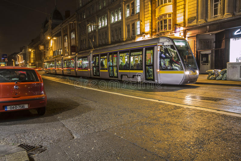 Dublin Streetcar (Luas) - Dublin - Ierland stock afbeeldingen