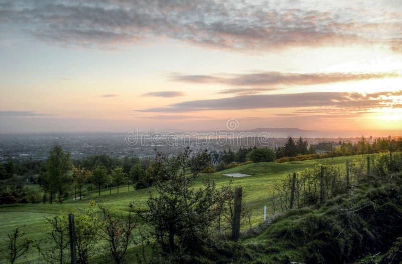 Dublin Sunrise royalty-vrije stock afbeeldingen