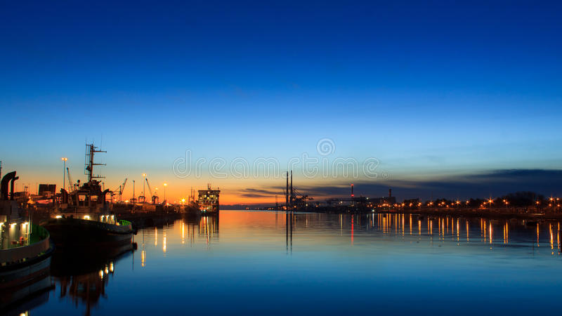 Dublin sunrise royalty free stock images