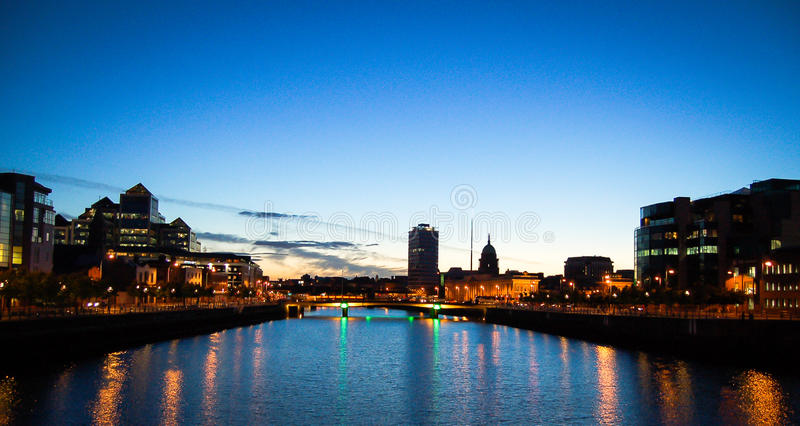 Download Dublin at sunset stock photo. Image of river, vacation - 83711130