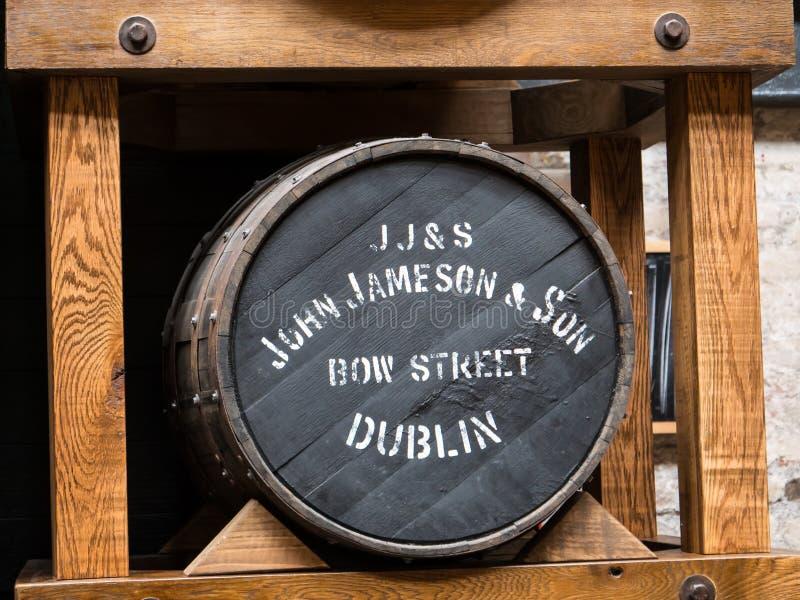 DUBLINO, IRLANDA - 22 AGOSTO 2018: La distilleria di Jameson Whiskey ora è un museo fotografie stock