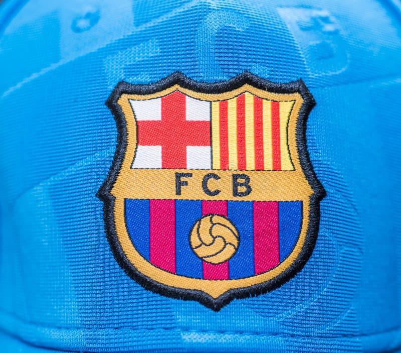 DUBLINO, IRLANDA - 6 giugno 2016: Logo di un club spagnolo di calcio fotografie stock