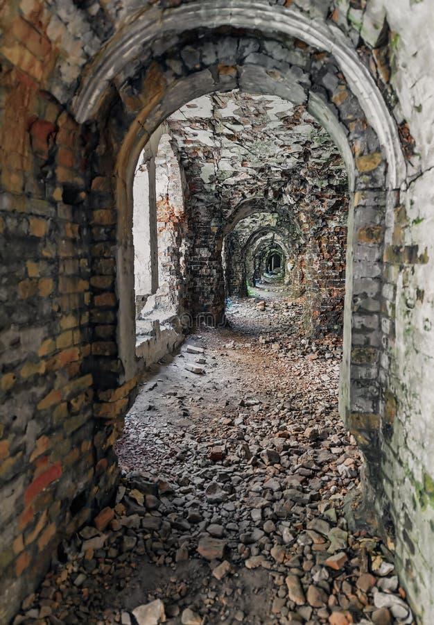 Dubno废墟堡垒在乌克兰 图库摄影