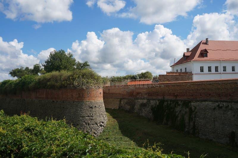 Dubno, castelo velho fundado por Ostrogski fotografia de stock royalty free