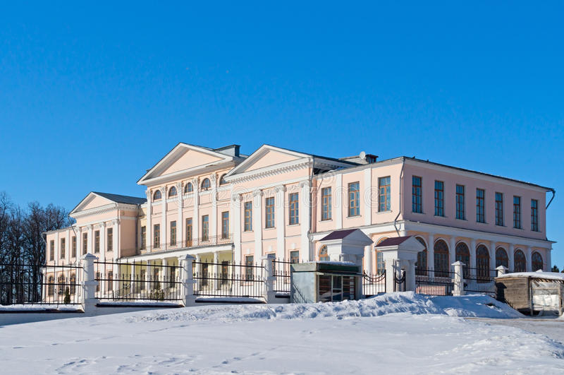 Dubrovitsy庄园宫殿  免版税库存照片