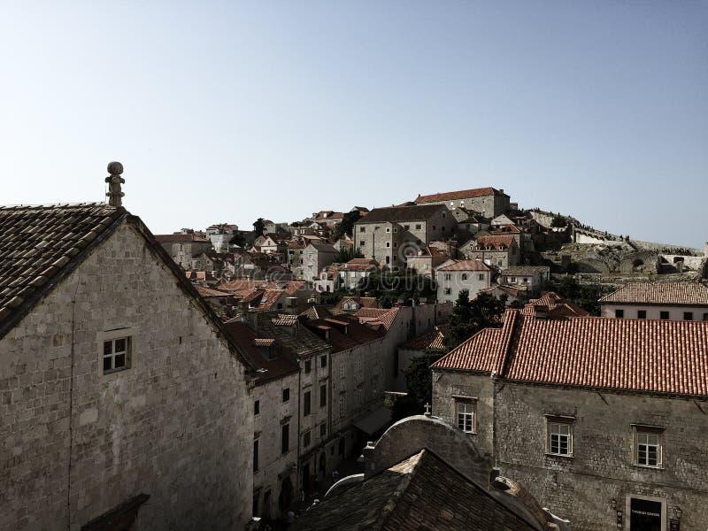 Dubrovnik ściana - Chorwacja zdjęcie royalty free
