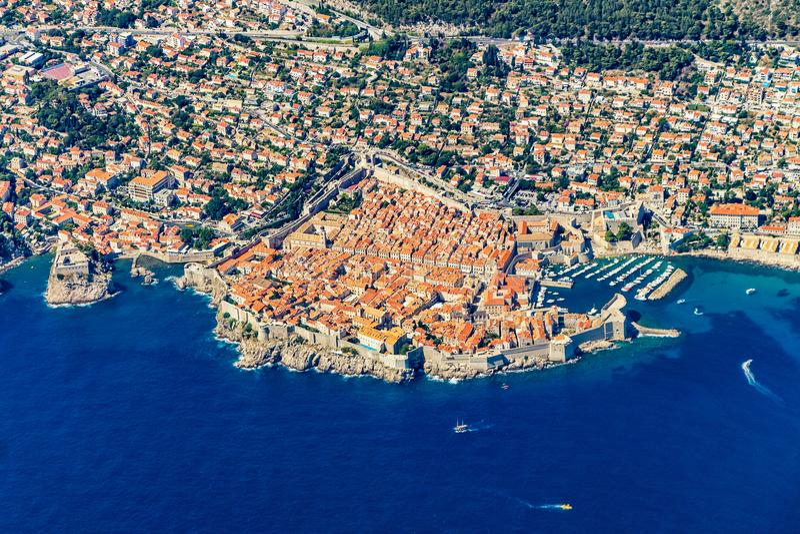Dubrovnik από τον αέρα στοκ εικόνες