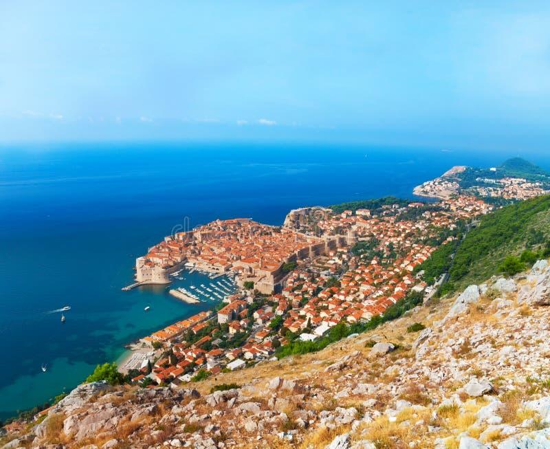 Dubrovnik από το βουνό στοκ εικόνα με δικαίωμα ελεύθερης χρήσης