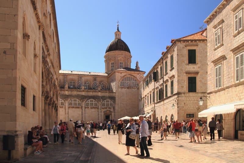 Dubrovnik - μαργαριτάρι της Αδριατικής στοκ εικόνα με δικαίωμα ελεύθερης χρήσης