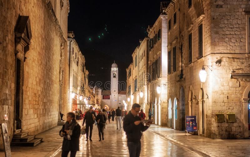 dubrovnik νύχτα στοκ φωτογραφίες με δικαίωμα ελεύθερης χρήσης
