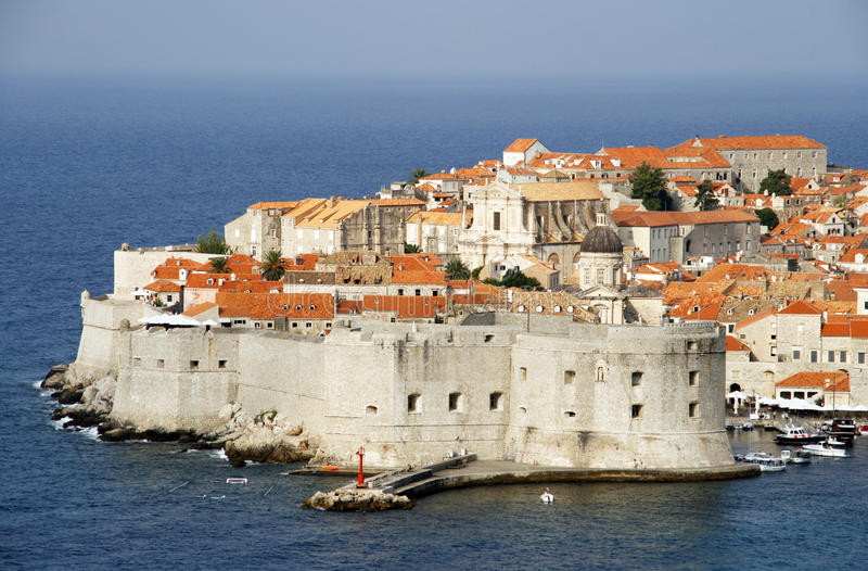 Dubrovnik. Old city of Dubrovnik - famous landmark in Croatia. It is the UNESCO World Heritage Site royalty free stock photos