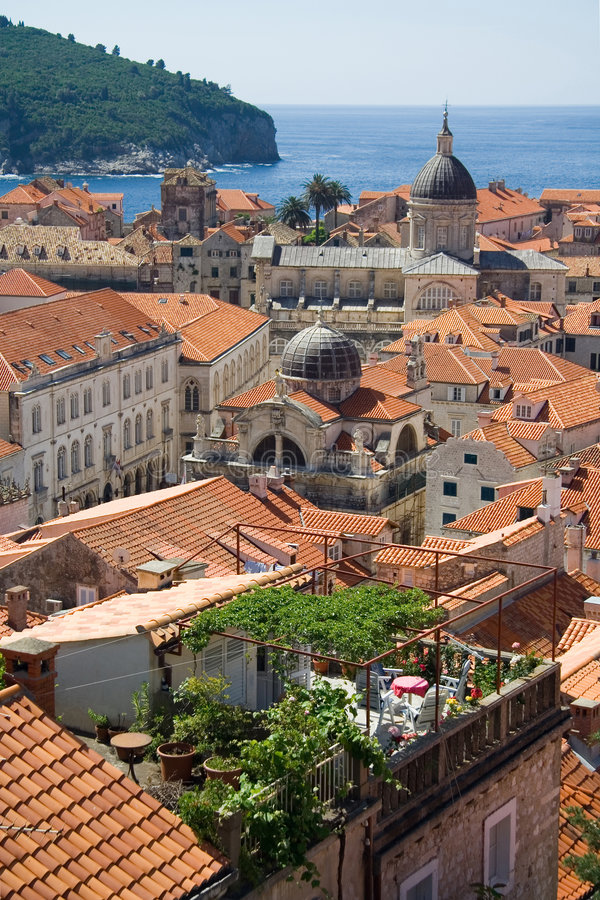 Download Dubrovnik stock photo. Image of walled, church, tiles - 1642360