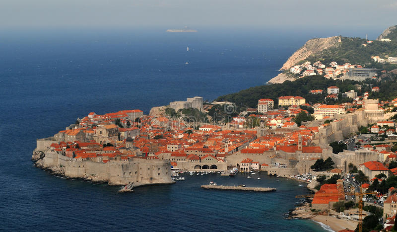 Dubrovnik. Panorama of Dubrovnik, surrounded by the Adriatic sea. Croatia royalty free stock photos