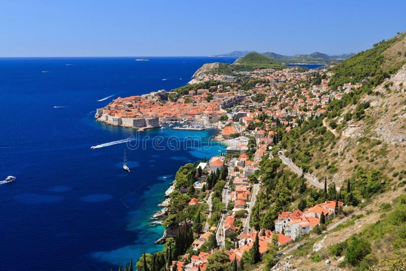 Dubrovnik. Medieval town in Croatia stock images