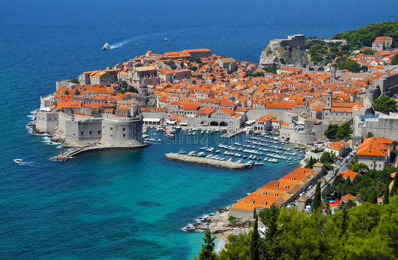 Dubrovnik Kroatien royaltyfri bild