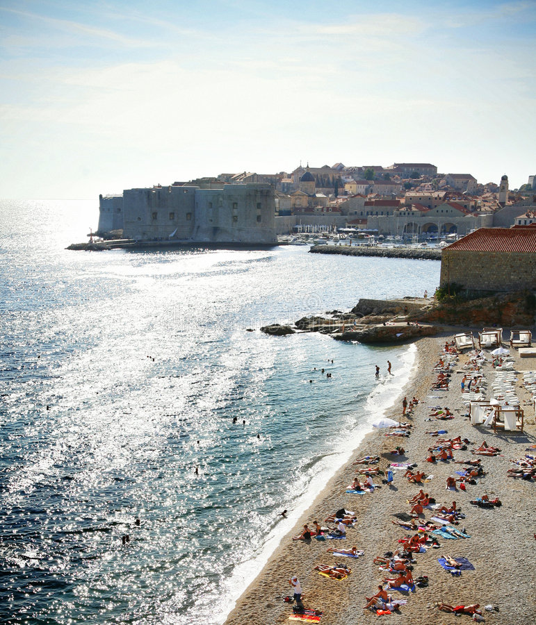 Dubrovnik beach royalty free stock photography