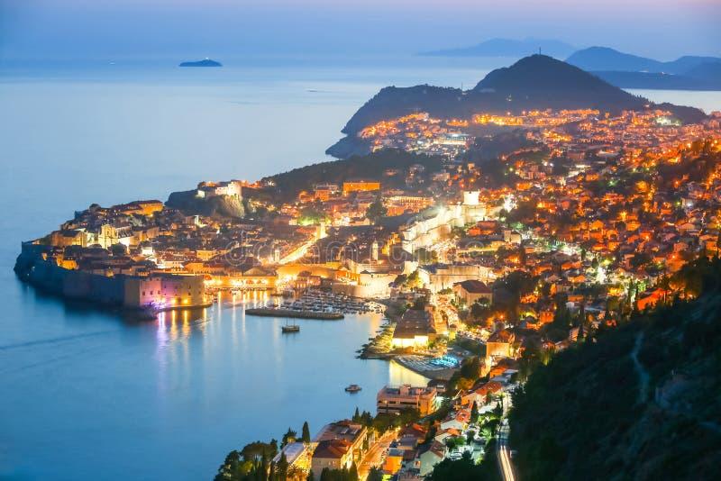 Dubrovnik bij Zonsondergang royalty-vrije stock fotografie