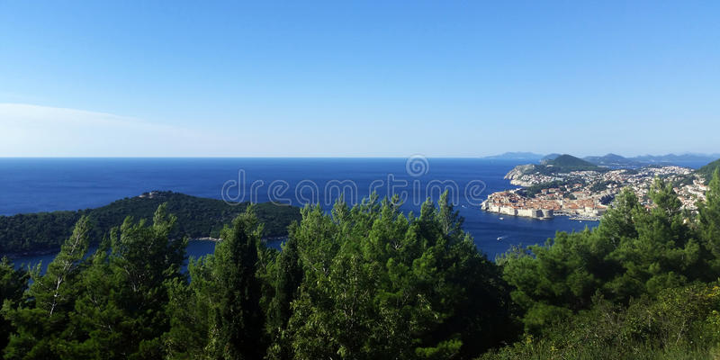Dubrovnik. In blue / Croatia / Summer time royalty free stock photo