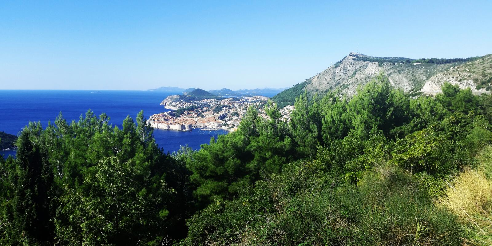 Dubrovnik. In blue / Croatia / Summer time royalty free stock image