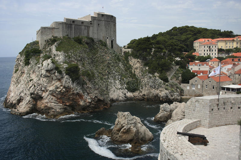 Dubrovnik castle 2 royalty free stock photo