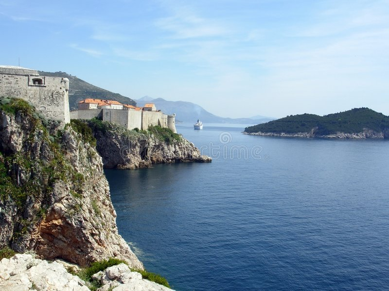 Dubrovnik channel royalty free stock photo