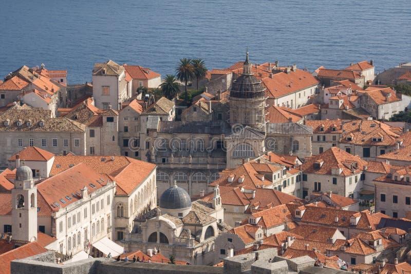 Dubrovnik - cidade velha fotografia de stock
