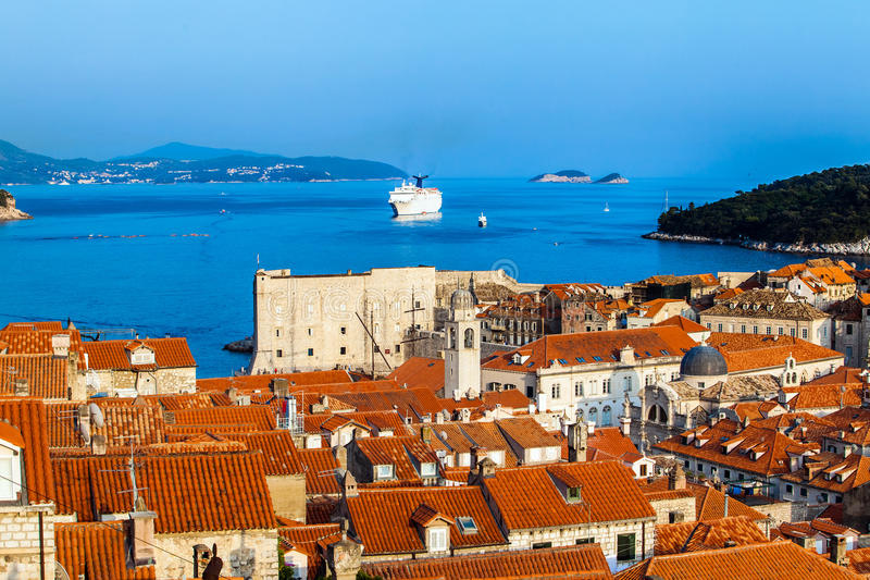 Dubrovnik city in Croatia royalty free stock photo
