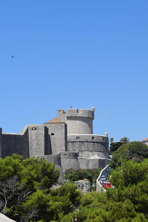 Dubrovnik City wall fort royalty free stock photography