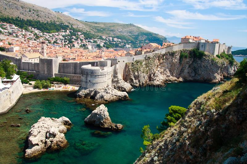 Dubrovnik city walls royalty free stock images