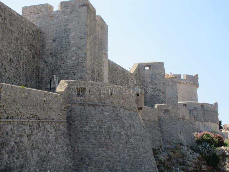 Dubrovnik city walls royalty free stock photo