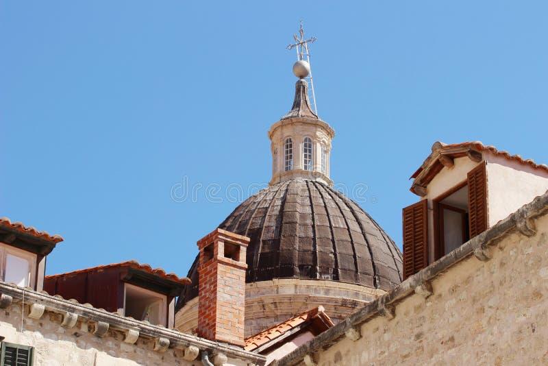 Dubrovnik Croacia, cúpula de la catedral imagen de archivo libre de regalías