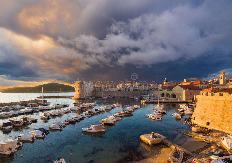 Dubrovnik. Croatia. City port in Dubrovnik. Croatia royalty free stock images