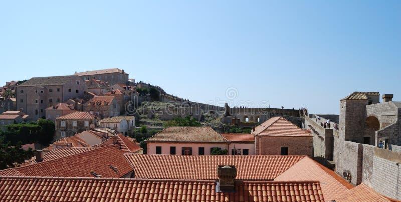 Dubrovnik. Croatia, Southern Dalmatia, View of the Dubrovnik stock image