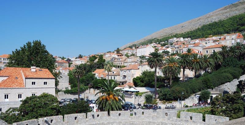 Dubrovnik. Croatia, Southern Dalmatia, View of the Dubrovnik city royalty free stock photo