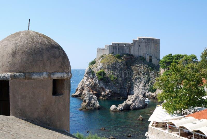 Dubrovnik. Croatia, Southern Dalmatia, View of the Dubrovnik city royalty free stock image