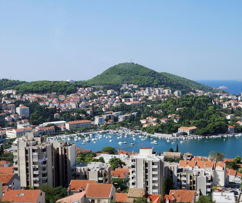 Dubrovnik. Croatia, Southern Dalmatia, View of the Dubrovnik city stock photos
