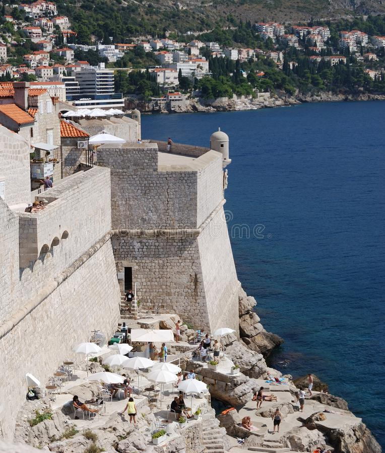 Dubrovnik. Croatia, Southern Dalmatia, View of the Dubrovnik city royalty free stock photography