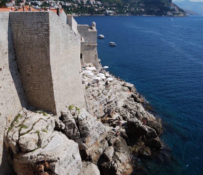 Dubrovnik. Croatia, Southern Dalmatia, View of the Dubrovnik city royalty free stock photos